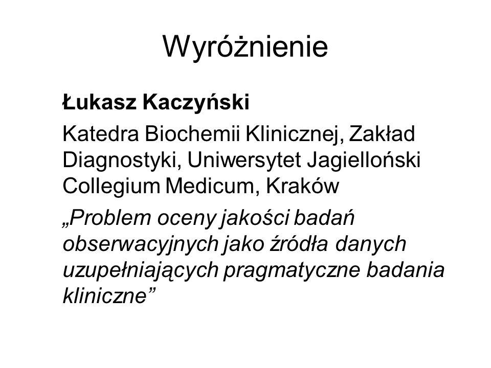 Wyróżnienie Łukasz Kaczyński