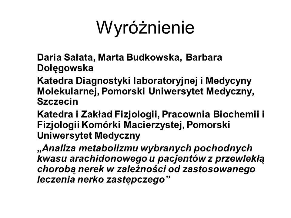 Wyróżnienie Daria Sałata, Marta Budkowska, Barbara Dołęgowska