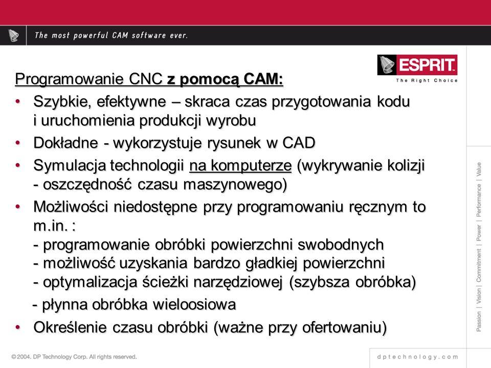 Programowanie CNC z pomocą CAM: