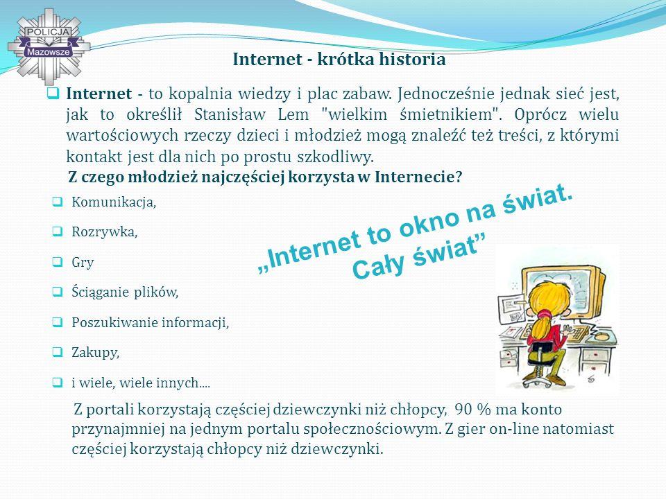 """Internet - krótka historia """"Internet to okno na świat. Cały świat"""