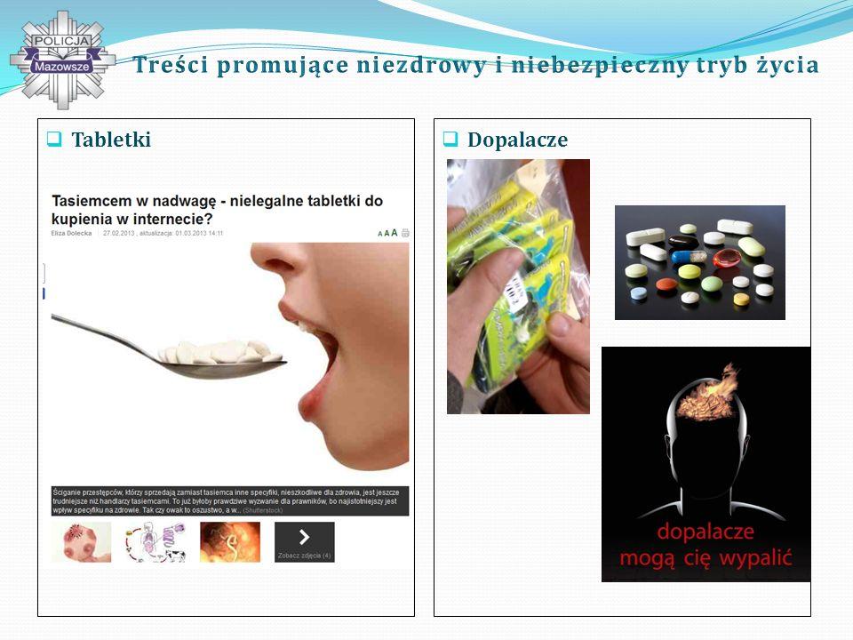 Treści promujące niezdrowy i niebezpieczny tryb życia