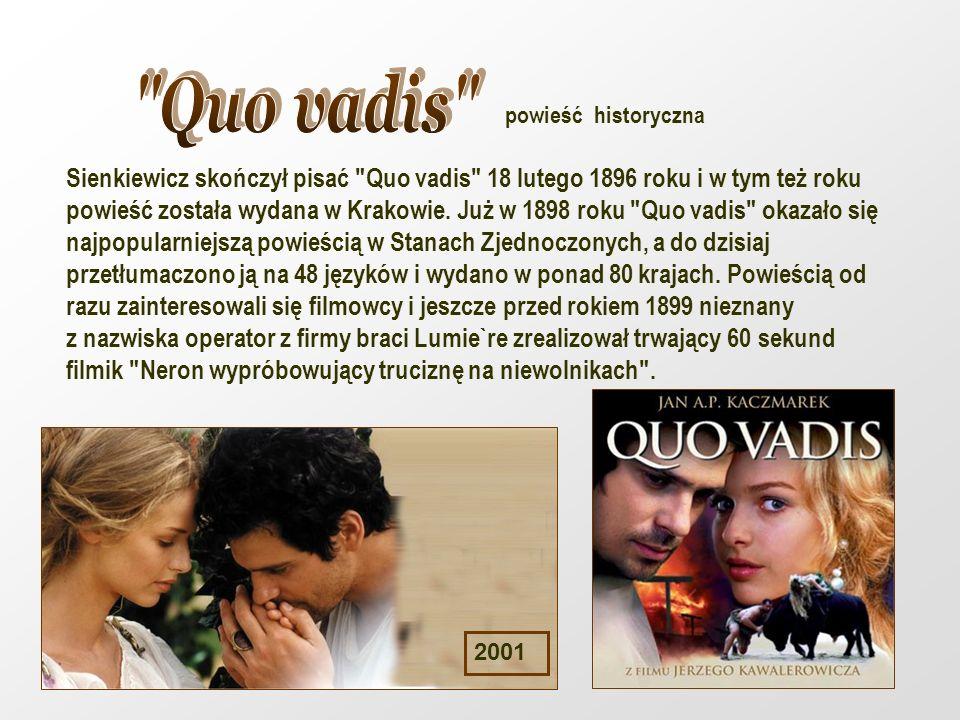 Quo vadis powieść historyczna.