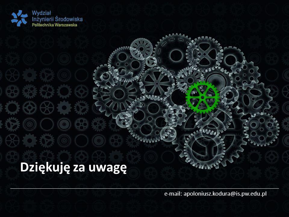 Dziękuję za uwagę e-mail: apoloniusz.kodura@is.pw.edu.pl