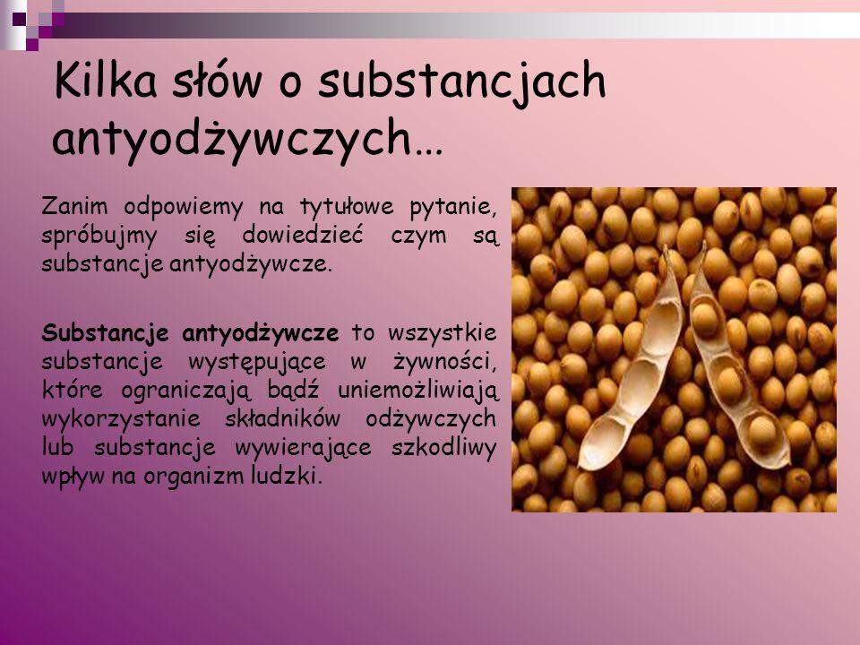 Kilka słów o substancjach antyodżywczych…