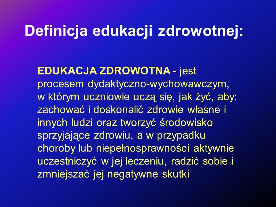 Definicja edukacji zdrowotnej: