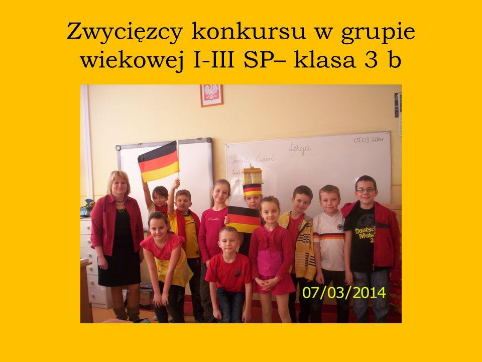 Zwycięzcy konkursu w grupie wiekowej I-III SP– klasa 3 b