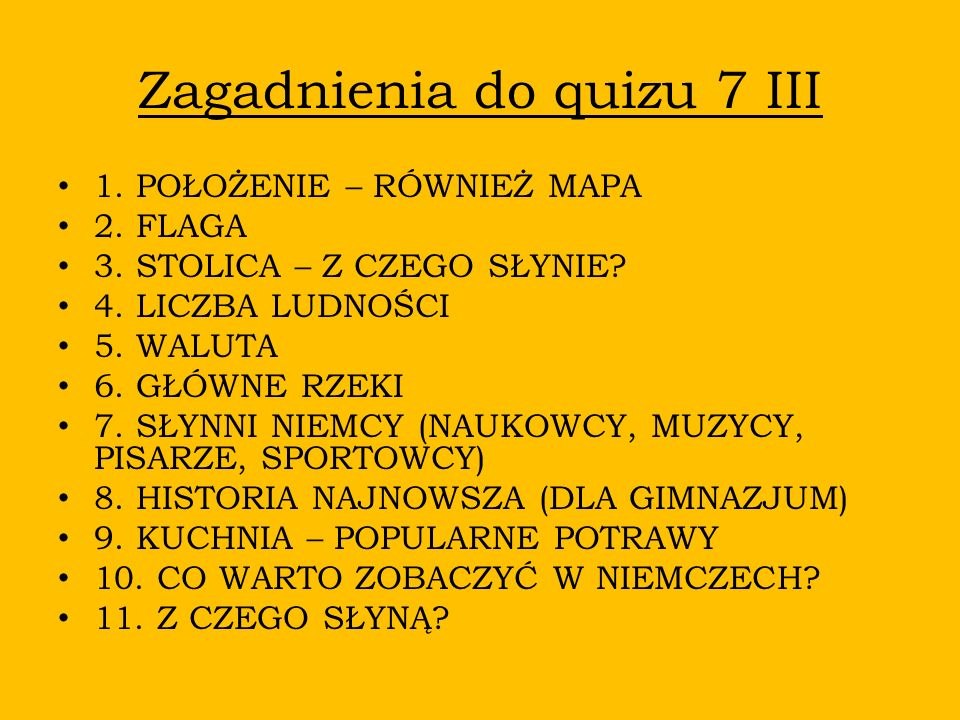 Zagadnienia do quizu 7 III
