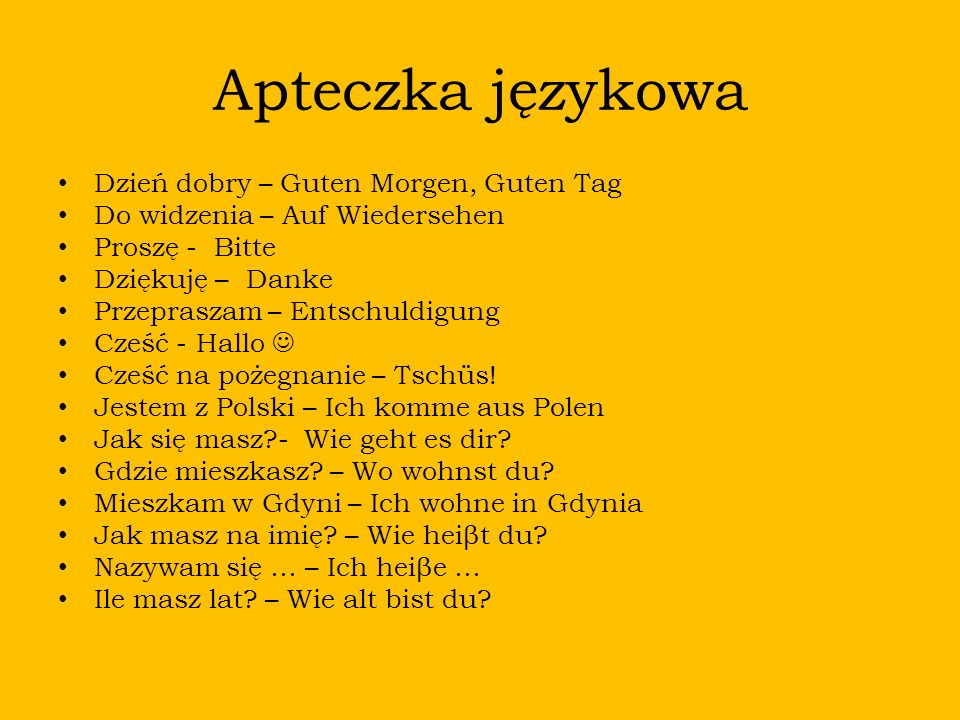 Apteczka językowa Dzień dobry – Guten Morgen, Guten Tag