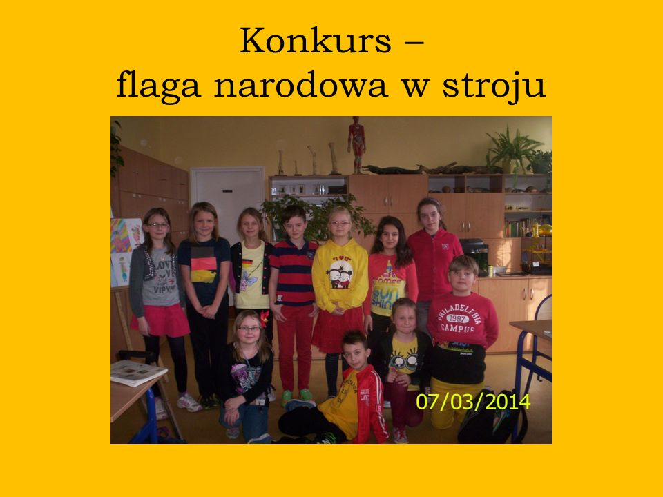 Konkurs – flaga narodowa w stroju