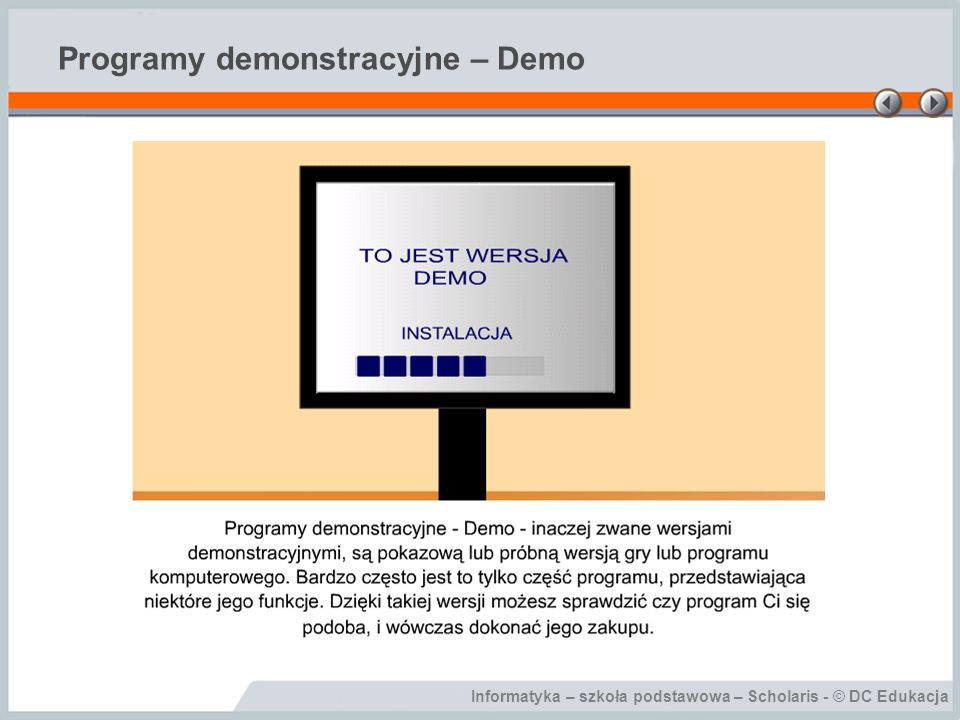 Programy demonstracyjne – Demo