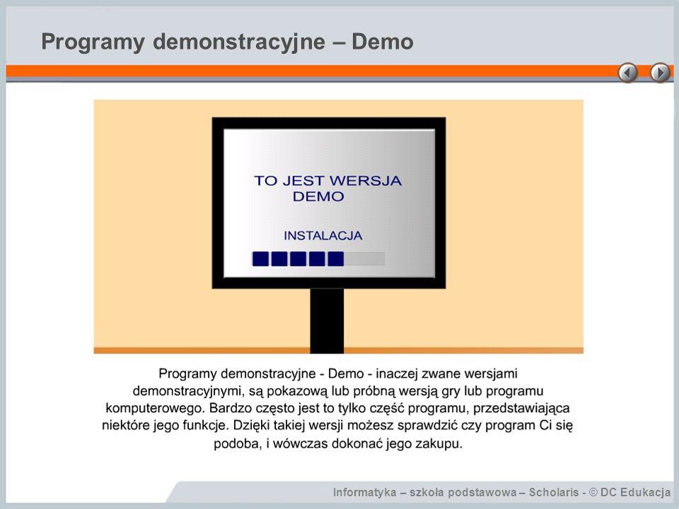 Programy demonstracyjne – Demo