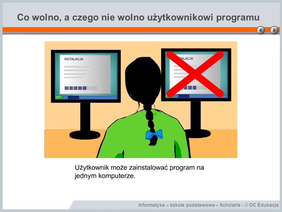 Co wolno, a czego nie wolno użytkownikowi programu