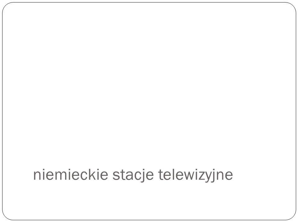 niemieckie stacje telewizyjne