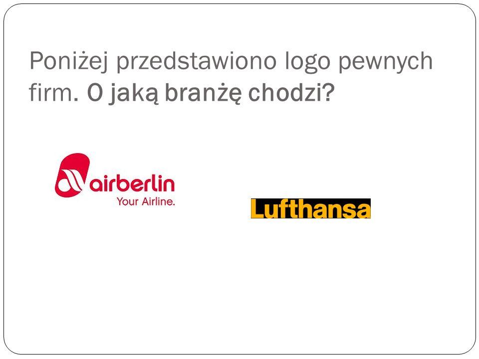 Poniżej przedstawiono logo pewnych firm. O jaką branżę chodzi