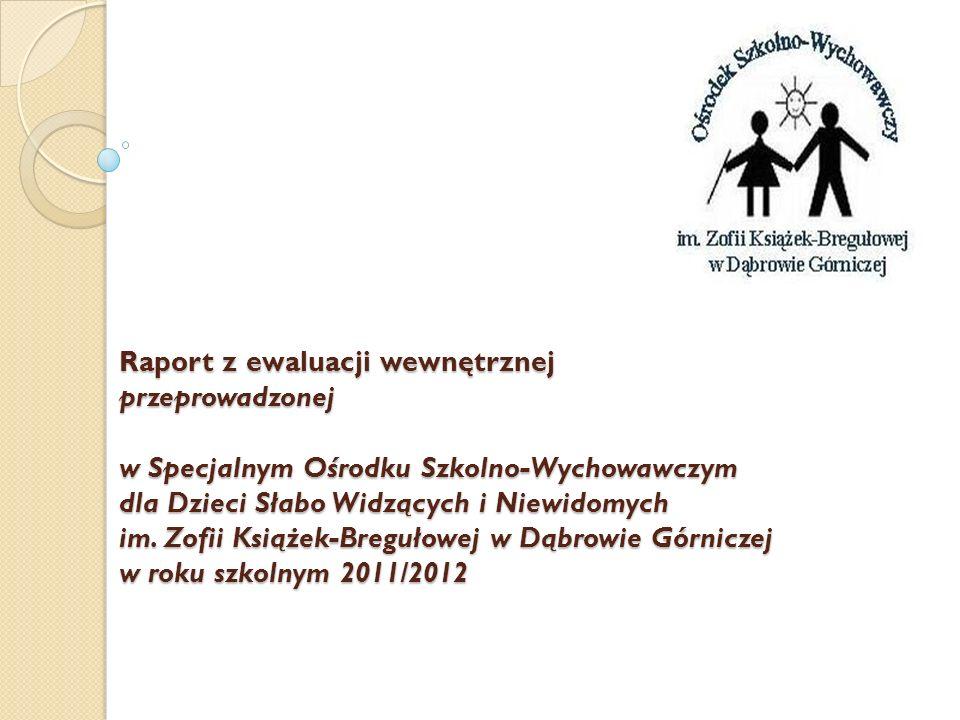 Raport z ewaluacji wewnętrznej przeprowadzonej w Specjalnym Ośrodku Szkolno-Wychowawczym dla Dzieci Słabo Widzących i Niewidomych im.