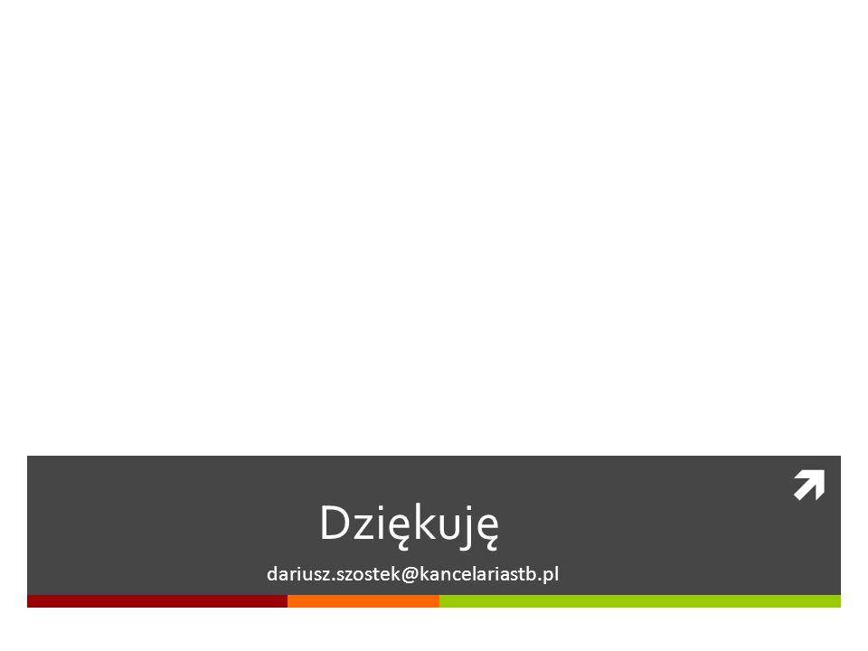 Dziękuję dariusz.szostek@kancelariastb.pl