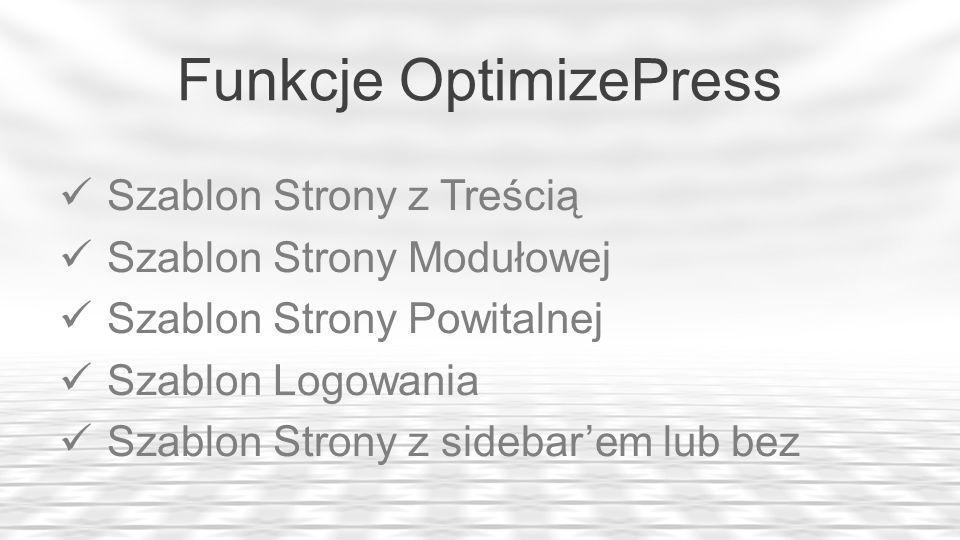 Funkcje OptimizePress