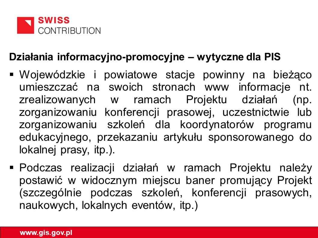 Działania informacyjno-promocyjne – wytyczne dla PIS