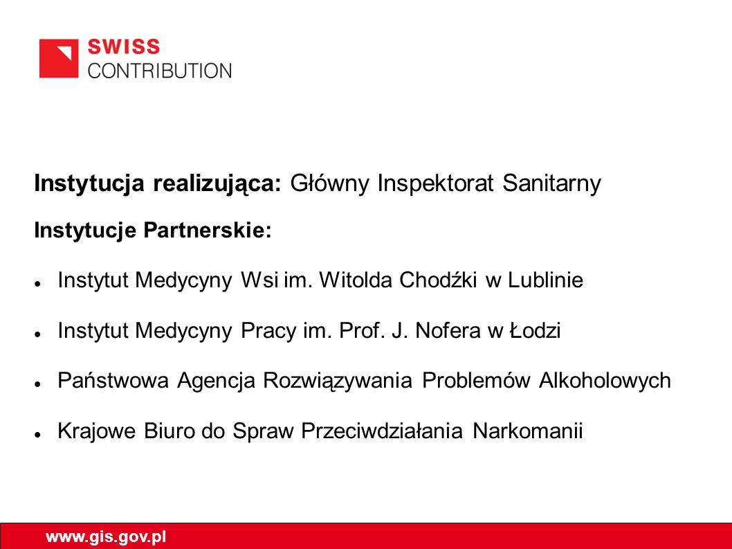 Instytucja realizująca: Główny Inspektorat Sanitarny