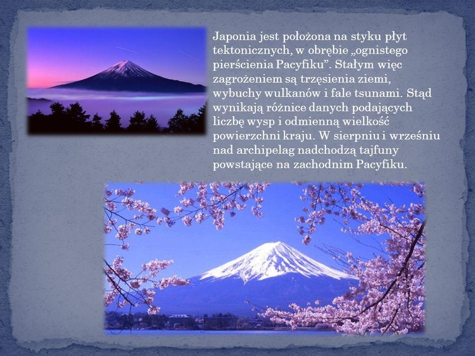 """Japonia jest położona na styku płyt tektonicznych, w obrębie """"ognistego pierścienia Pacyfiku ."""