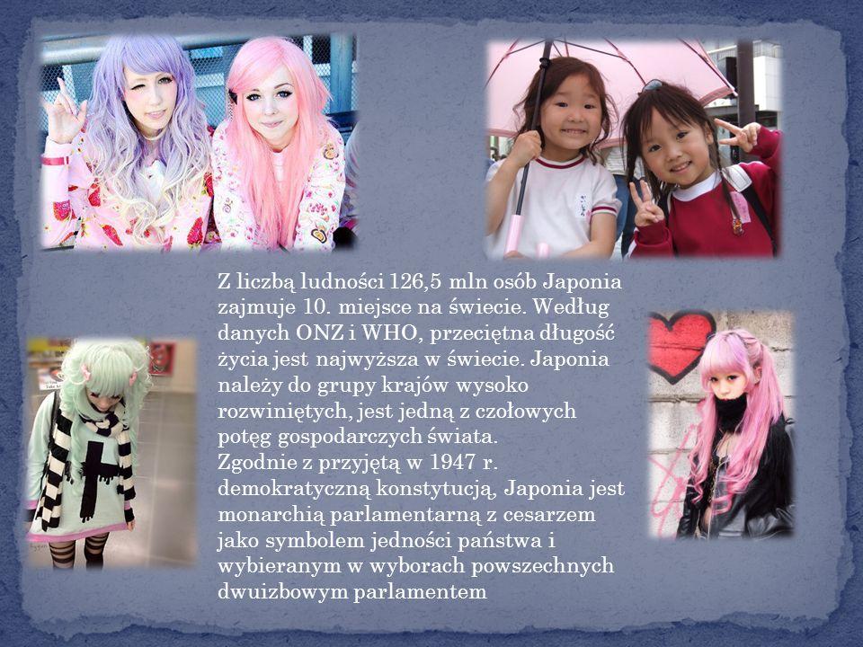 Z liczbą ludności 126,5 mln osób Japonia zajmuje 10. miejsce na świecie. Według danych ONZ i WHO, przeciętna długość życia jest najwyższa w świecie. Japonia należy do grupy krajów wysoko rozwiniętych, jest jedną z czołowych potęg gospodarczych świata.