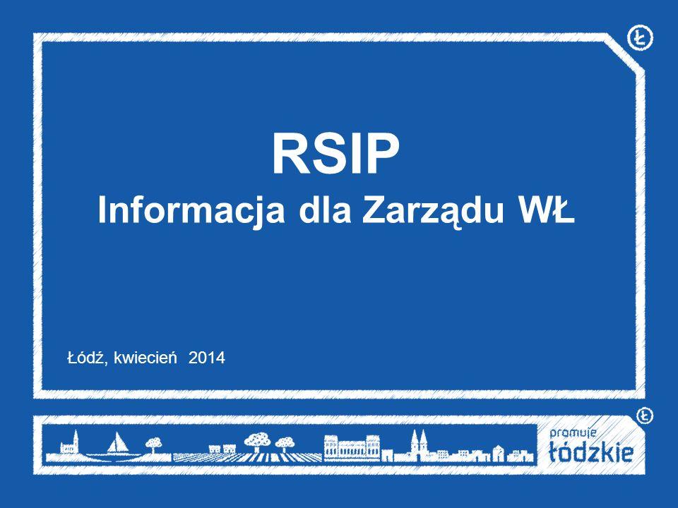 RSIP Informacja dla Zarządu WŁ