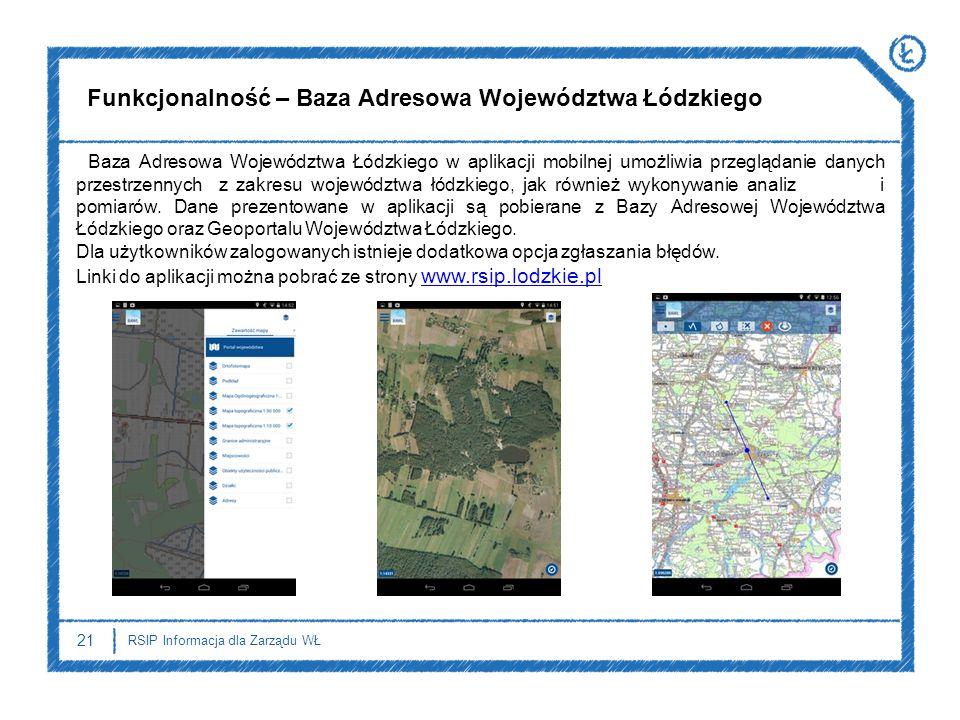 Funkcjonalność – Baza Adresowa Województwa Łódzkiego