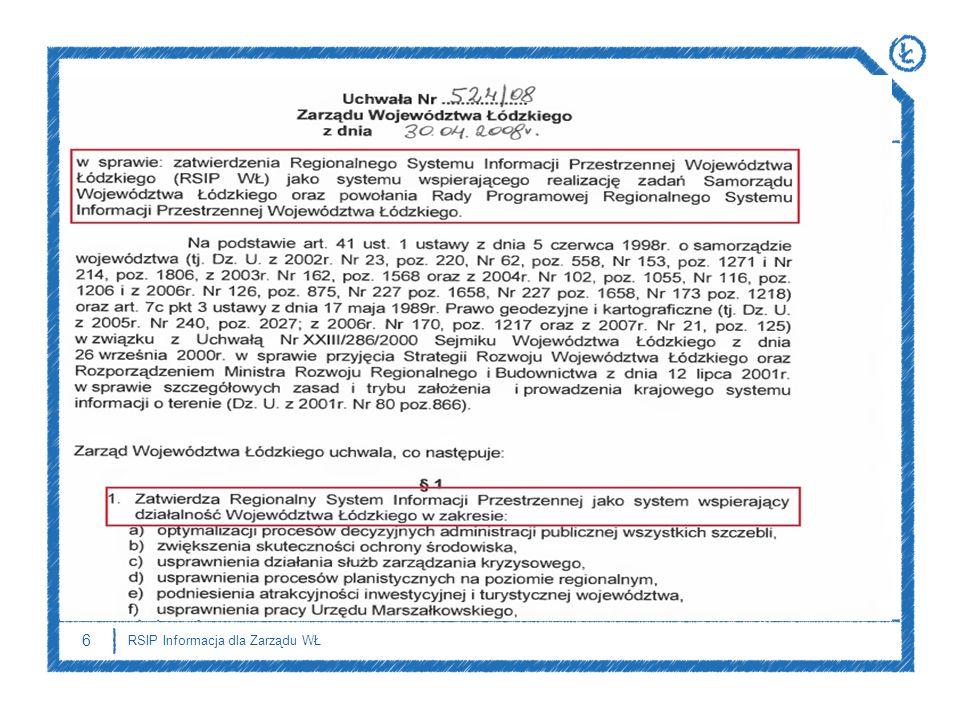 6 RSIP Informacja dla Zarządu WŁ