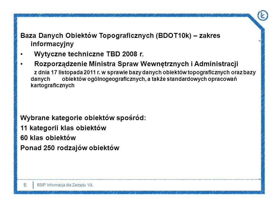 Baza Danych Obiektów Topograficznych (BDOT10k) – zakres informacyjny