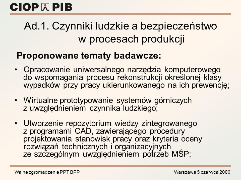 Ad.1. Czynniki ludzkie a bezpieczeństwo w procesach produkcji