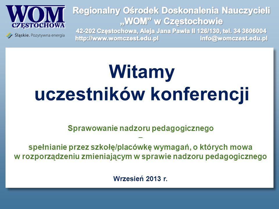 Witamy uczestników konferencji