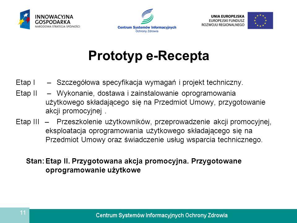 Prototyp e-Recepta Etap I – Szczegółowa specyfikacja wymagań i projekt techniczny.