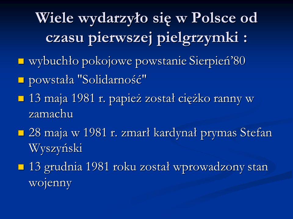 Wiele wydarzyło się w Polsce od czasu pierwszej pielgrzymki :