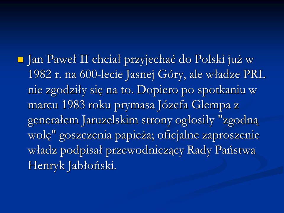 Jan Paweł II chciał przyjechać do Polski już w 1982 r
