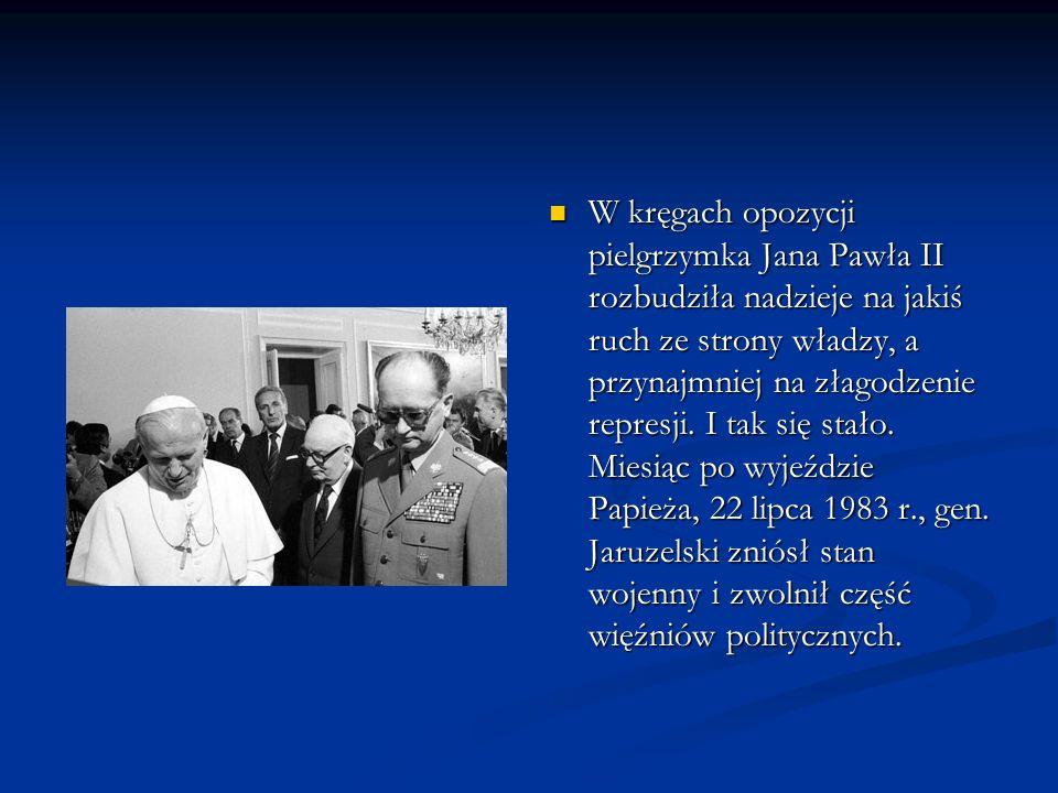 W kręgach opozycji pielgrzymka Jana Pawła II rozbudziła nadzieje na jakiś ruch ze strony władzy, a przynajmniej na złagodzenie represji.