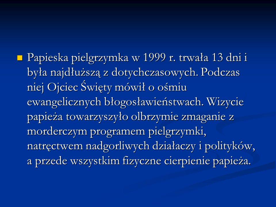 Papieska pielgrzymka w 1999 r