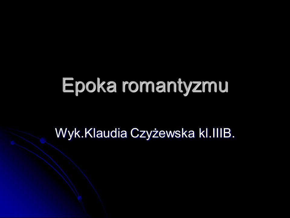 Wyk.Klaudia Czyżewska kl.IIIB.