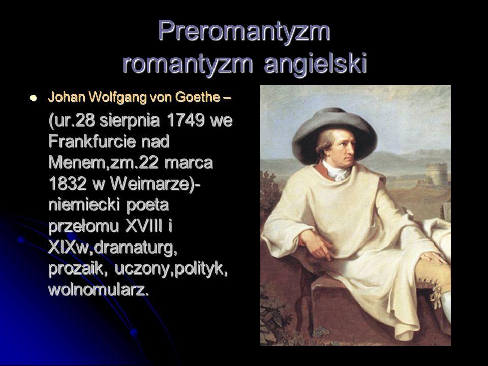 Preromantyzm romantyzm angielski