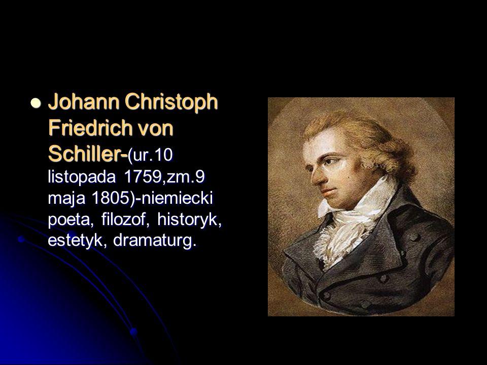 Johann Christoph Friedrich von Schiller-(ur. 10 listopada 1759,zm