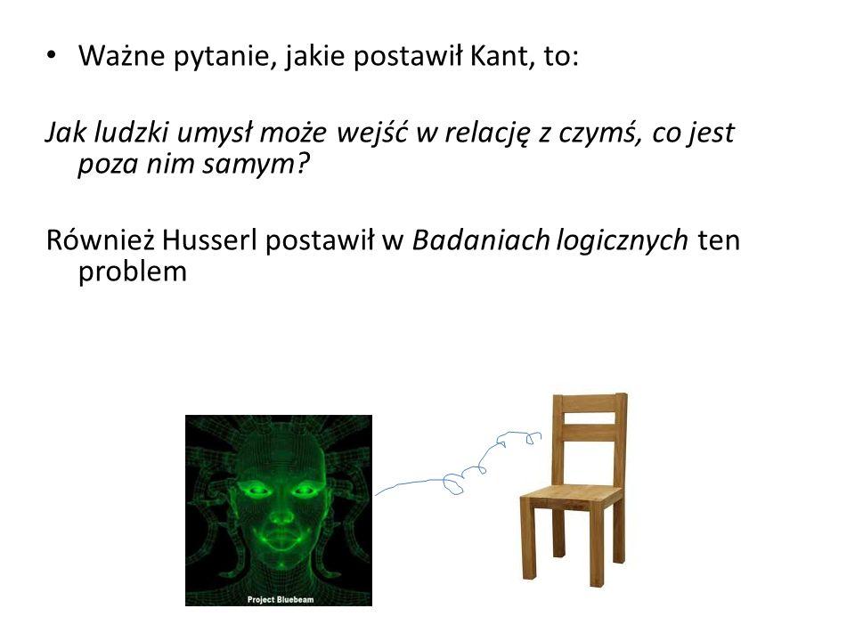 Ważne pytanie, jakie postawił Kant, to: