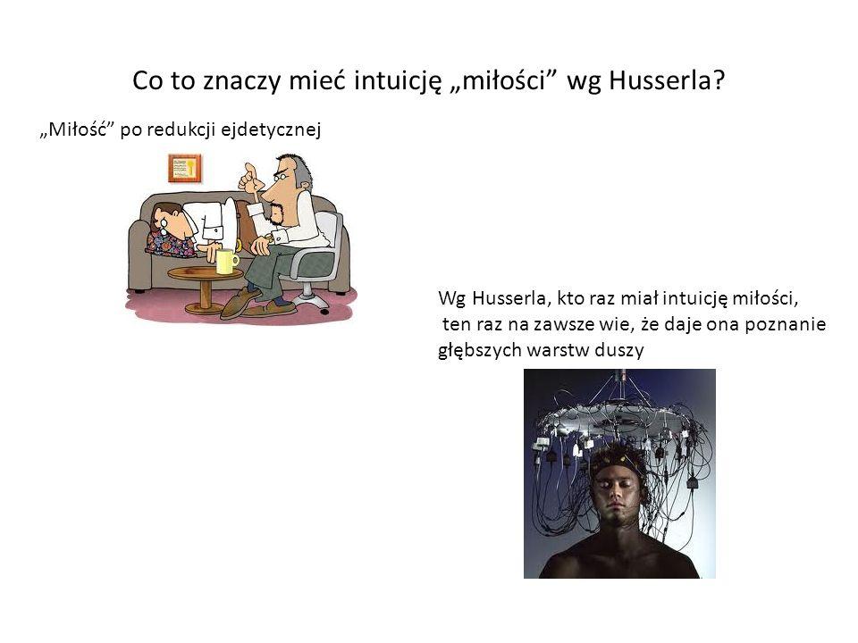 """Co to znaczy mieć intuicję """"miłości wg Husserla"""