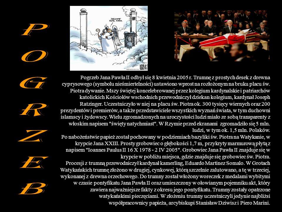 Pogrzeb Jana Pawła II odbył się 8 kwietnia 2005 r