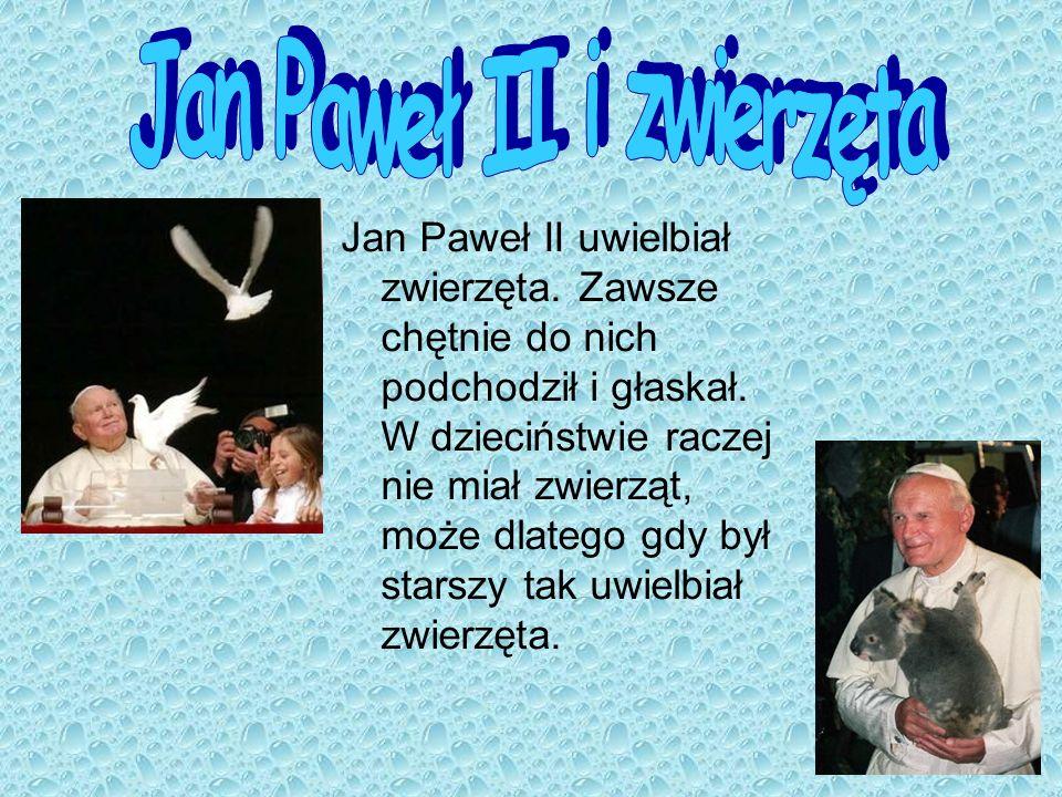 Jan Paweł II i zwierzęta