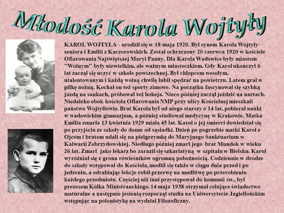 Młodość Karola Wojtyły