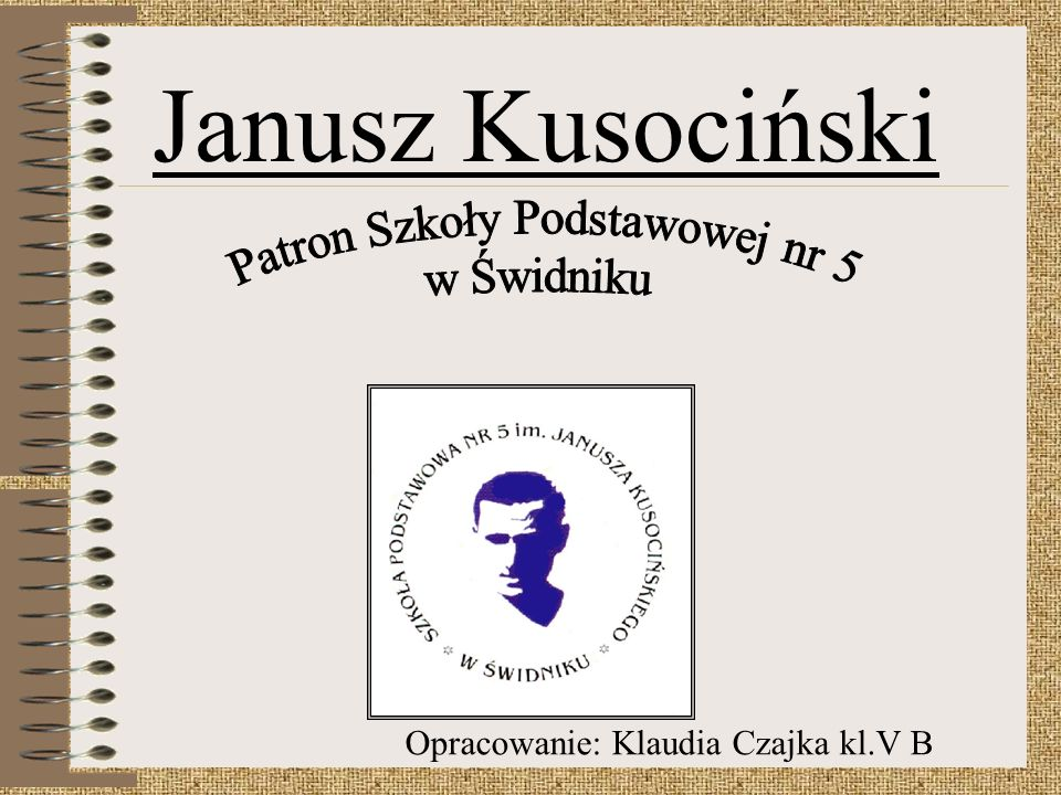 Janusz Kusociński Patron Szkoły Podstawowej nr 5 w Świdniku