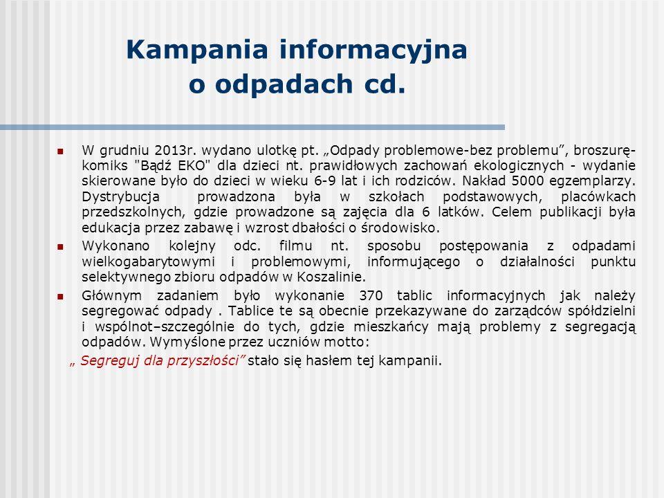 Kampania informacyjna o odpadach cd.