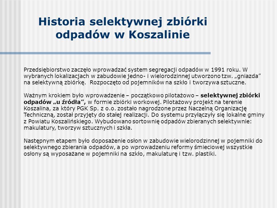 Historia selektywnej zbiórki odpadów w Koszalinie