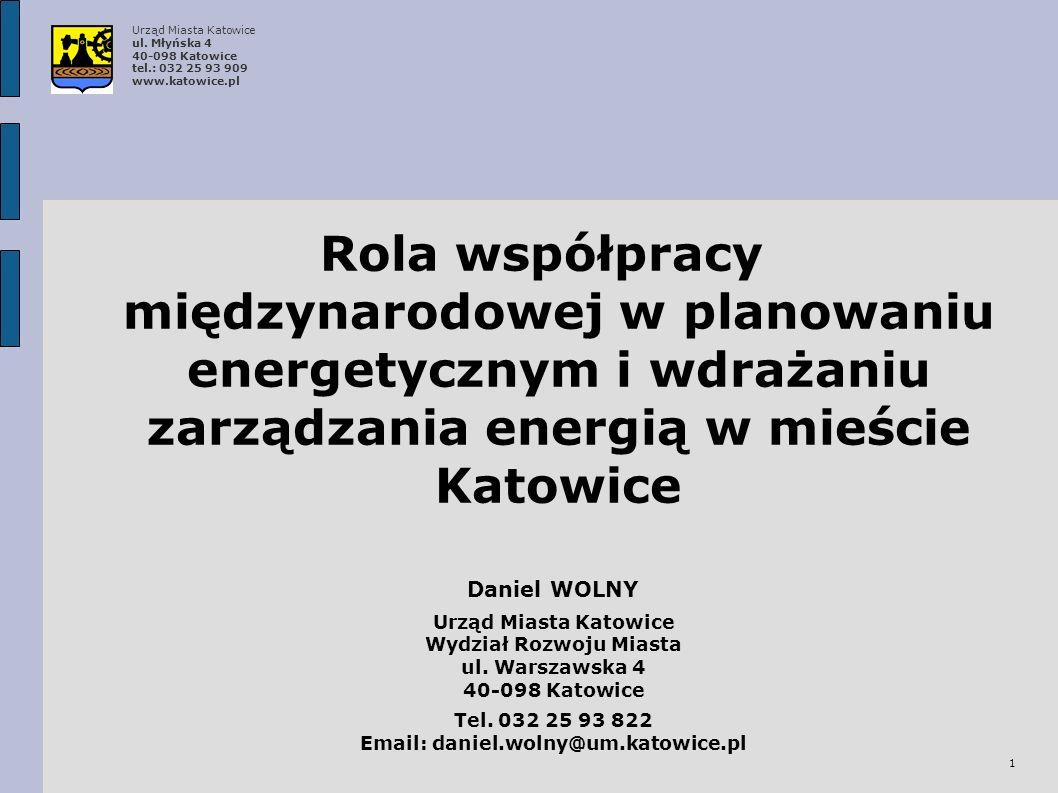 Wydział Rozwoju Miasta Email: daniel.wolny@um.katowice.pl