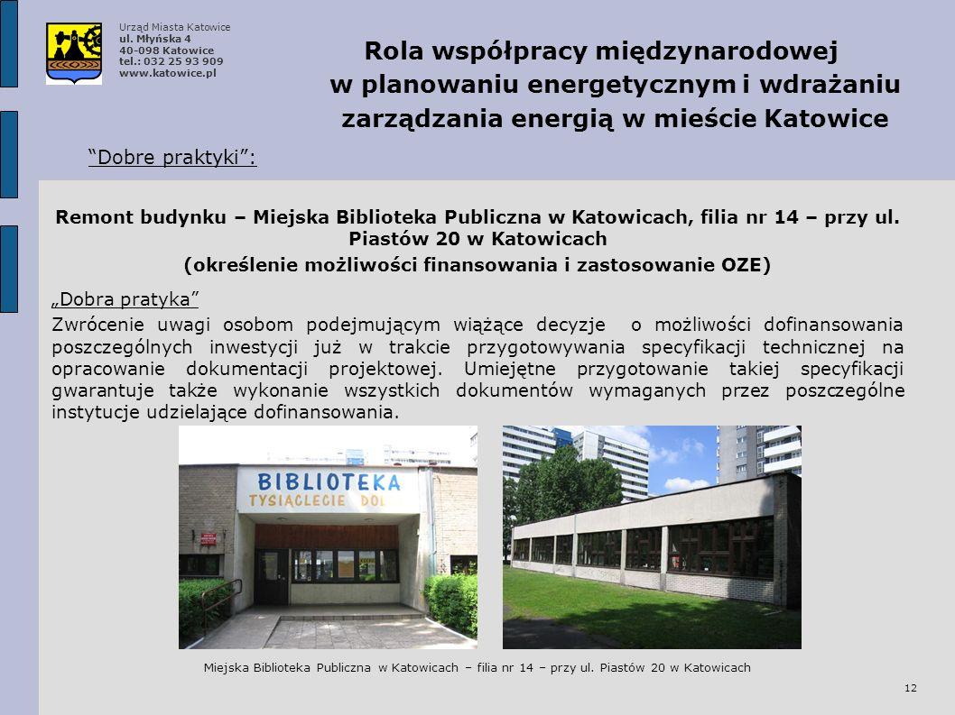 (określenie możliwości finansowania i zastosowanie OZE)