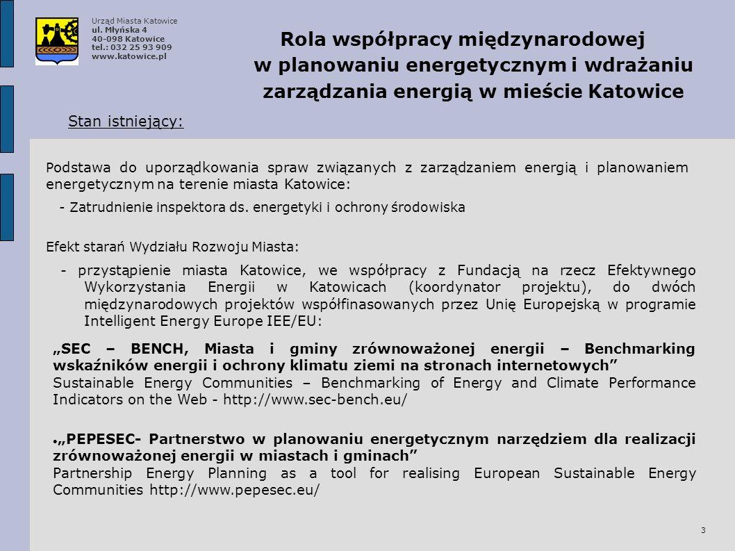 Urząd Miasta Katowice ul. Młyńska 4 40-098 Katowice tel